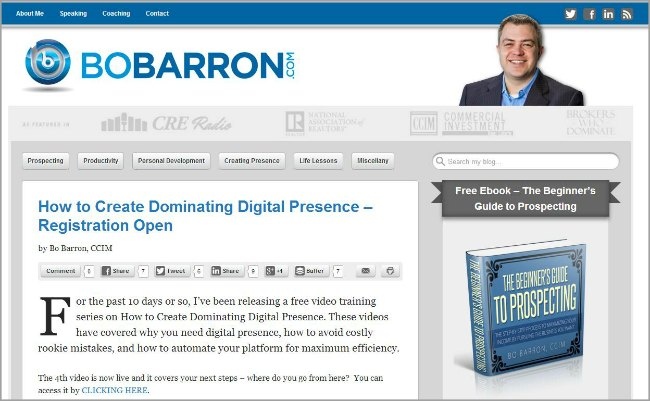 Bo Barron Blog