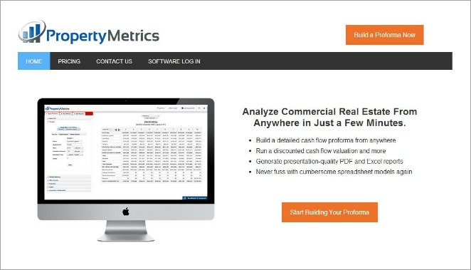 Property Metrics website