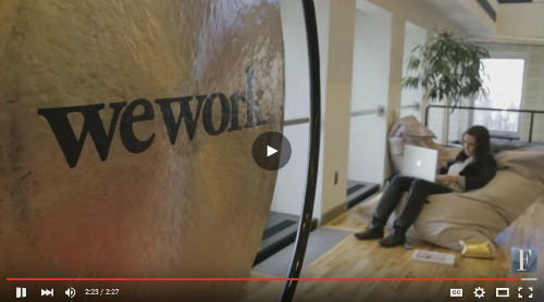 Use WeWork to rent coworking space
