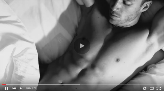 Racy real estate ad with a naked man walking around the house
